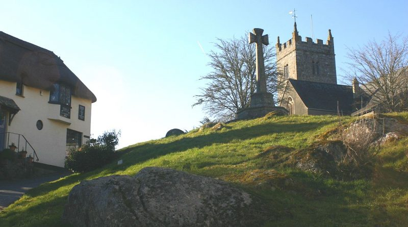 View of Lustleigh Church
