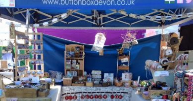 The Button Box Devon stand at the Lustleigh Village Show
