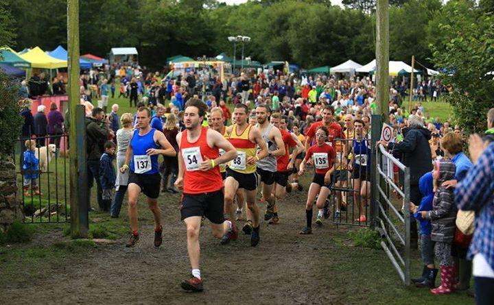 Runners in the Lustleigh 10k run set off