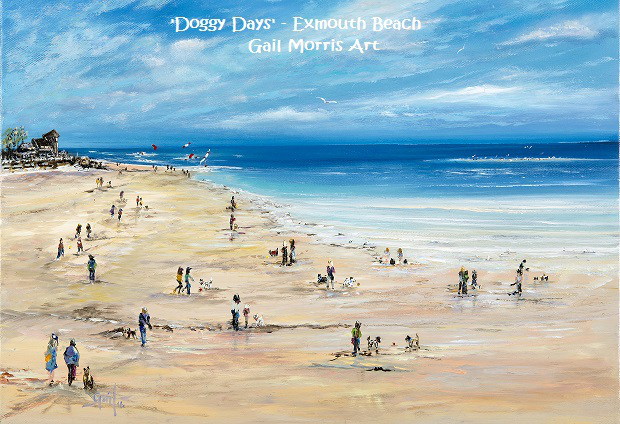 'Doggy Days' painting by Gail Morris