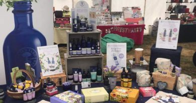 A selection of products on the Neals Yard Remedies stall