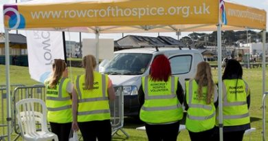 Rowcroft Hospice volunteers at a show
