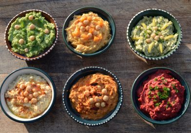 A range of homemade hummus by Just Hummus