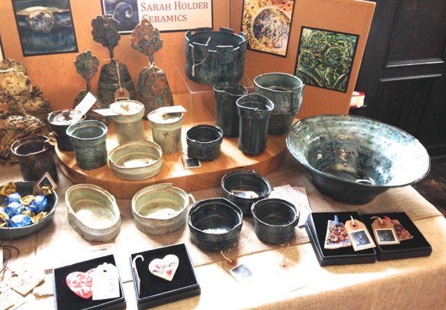A range of ceramic items made by Sarah Holder