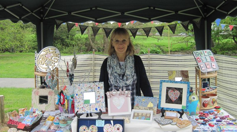 The Indigo Ocean stall, with hand made craft products
