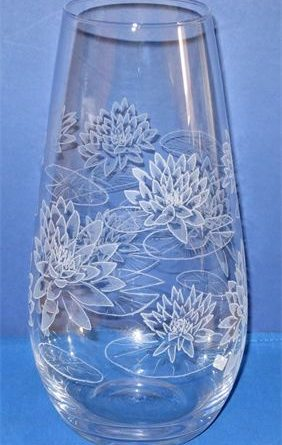 A vase engraved by Liz Foster