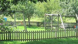 The playground in the Lustleigh Orchard