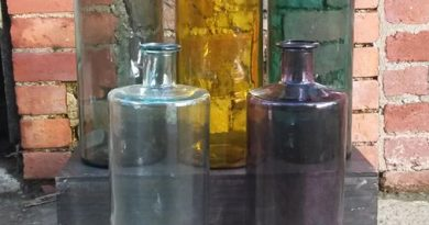 A selection of glass bottles by Sorella Living