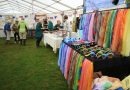 Trade stands indoors at the Lustleigh Show