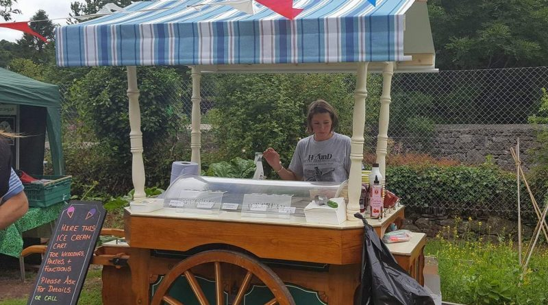An ice cream cart operated by Hound of the baskervilles