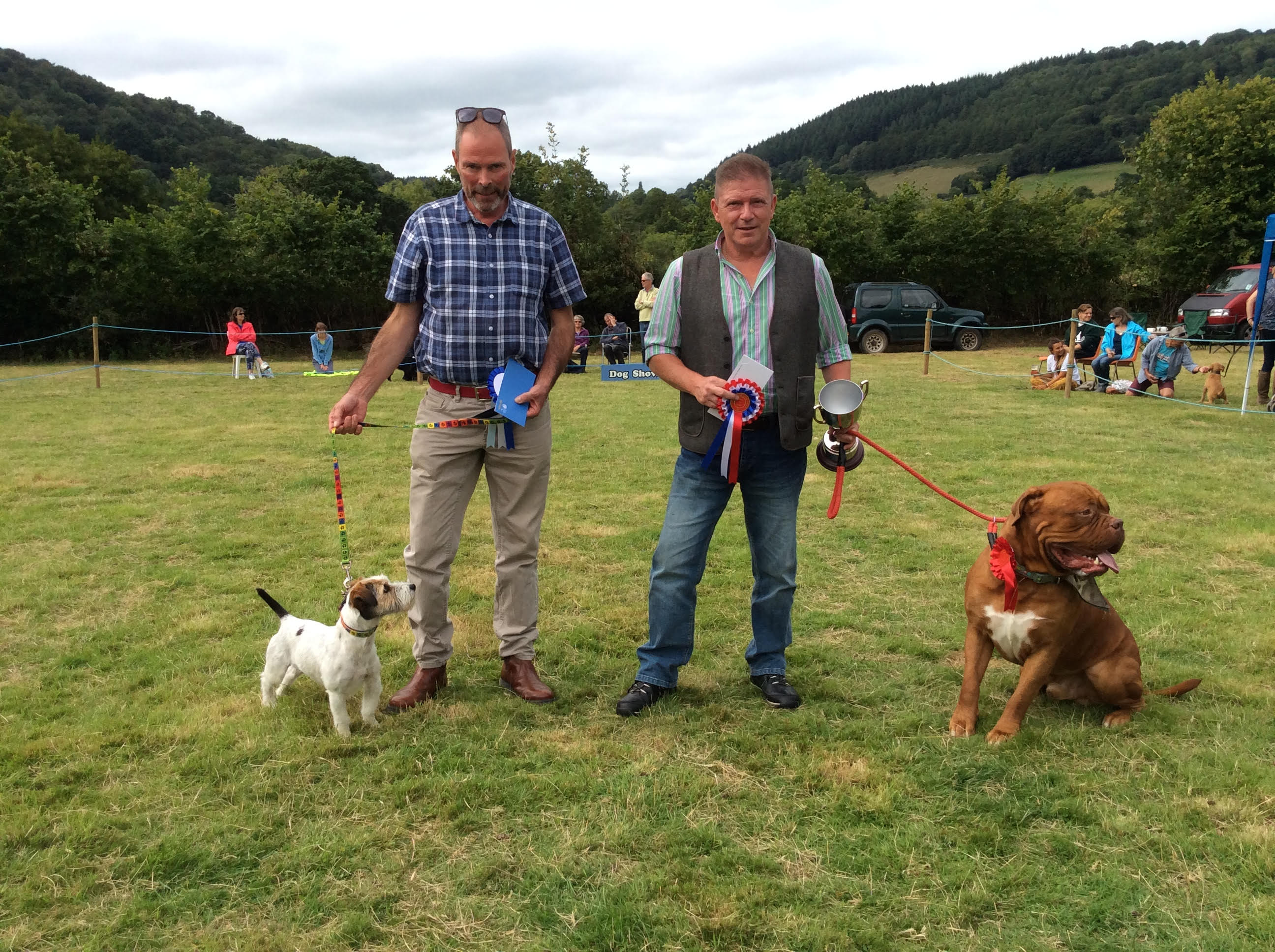 Best in Show and Reserve at Lustleigh Show dog show 2018