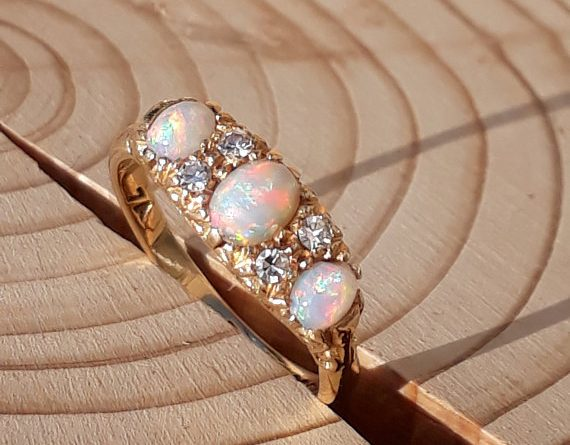 Opal and diamond ring by OlliesOpals
