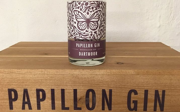 A bottle of Papillon Gin