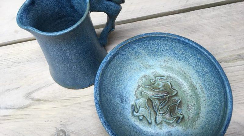 Jug and bowl by Philippa Lewis Ceramics