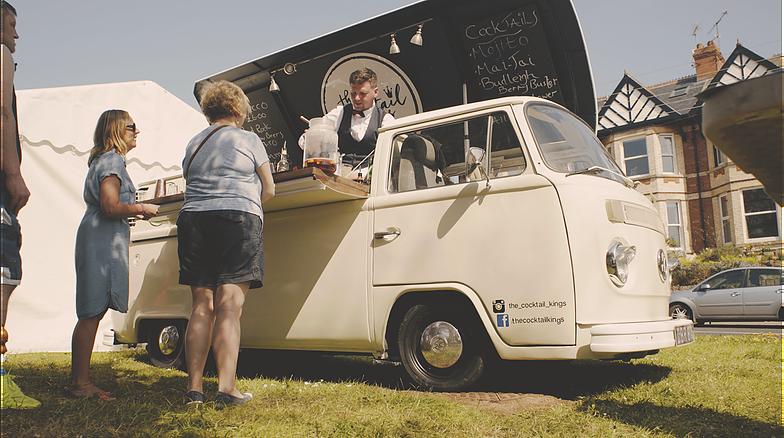 Converted VW camper van of the Cocktail Kings